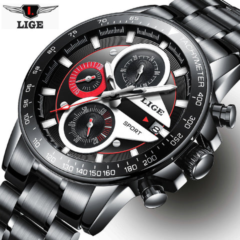 Watch Men Business Waterproof Clock Watches Top Luxury Casual Sport Quartz Wristwatch