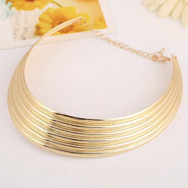 Boho Power Collar Choker Necklace Punk Big Maxi Vintage Statement Necklace Women Jewelry