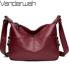 Luxury Handbags Women Bags Soft Leather Crossbody Messenger Vintage Shoulder Bag