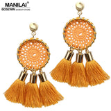 Nets Weaving Bohemia Tassels Earrings Beach Jewelry Long Dangle Drop Earrings Statement Brincos