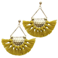 Bohemian Geometric Fringe Earrings Statement Tassel Drop Earrings Party Ethnic Jewelry