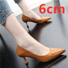 Women Comfortable Multi Color High Heel Shoes Pointed Toe Spring Shoes