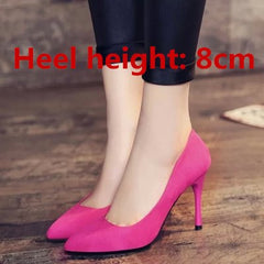 Women Cute High Sweet Office High Heel Pumps Classic Black Shoes Femminine
