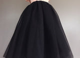 Maxi Layers Tulle Skirt Premium Sewn Elastic Length Long Skirt Women Summer High Waist Skirts