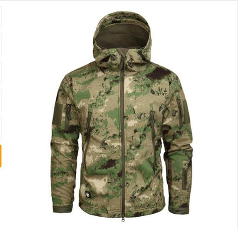 Men's Army Camouflage Jacket  Waterproof Soft Shell Jackets Windbreaker Hunt Clothes