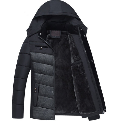 Men's Casual Winter Jacket coat Overcoat Rib Cuff