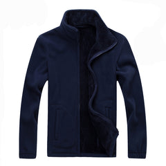 Mountainskin Men Softshell Fleece Casual Jackets Sweatshirt Thermal Coats Solid Thickened