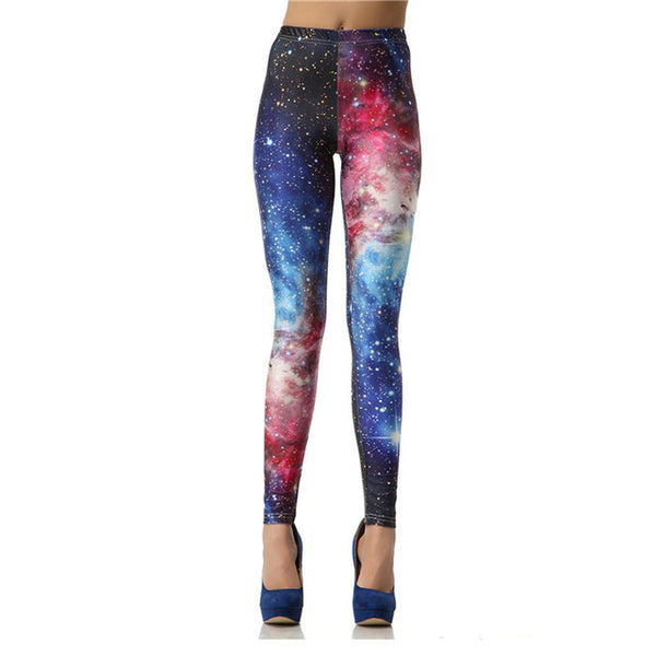 NADANBAO 3D Digital Black White Galaxy Leggings Slim Sexy Leggings Printed Women Pants