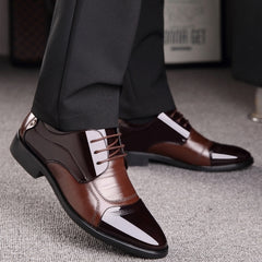 Spring Oxford Business Men Shoes Genuine Leather Soft Casual Breathable Flats Zip Shoes