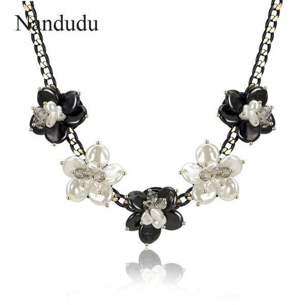 Bohemia Flower Pendant Necklace Summer Women Girl Acrylic Necklaces Accessories Gift