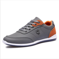 Men Casual Shoes Outdoor Walking Shoes Black Blue Casual Shoes Leather Shoes