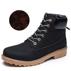 Winter Shoes Women Flat Heel Snow Boots Fashion Women's Boots with Plush Brand