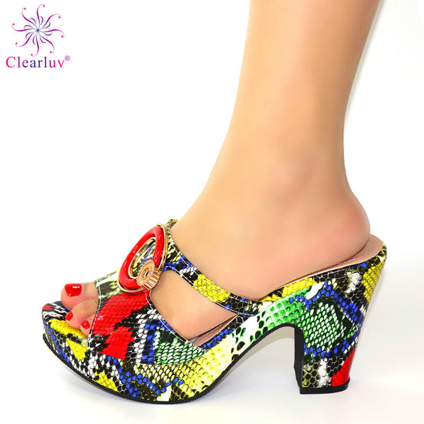 Italian Women Shoes Decorated Rhinestone Summer Big Size Shoes High Heels Party Pumps