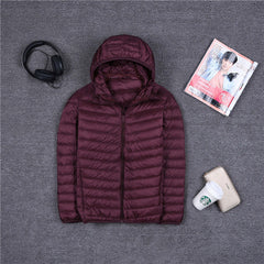 Duck Down Jacket Ultra Light Thin Stand Collar Coat
