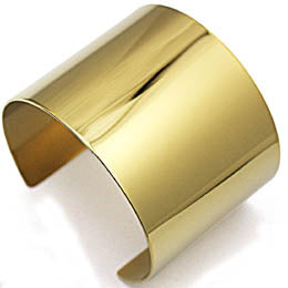 Stainless Steel Wide Blank Plain Shiny Arm Cuff Bangle Bracelet Hip Hop Punky Ladies Jewelry