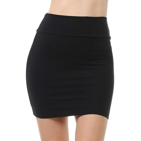 Summer Skirt High Waist Solid Color Plus Size Short Classic Simple Mini Skirts