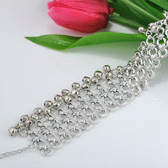 Sexy Vintage Silver Anklet Chain Lots Bell Beads Ankle Bracelet Foot Jewelry Barefoot Sandals