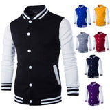 Men Baseball Jacket Red Mens Slim Fit College Varsity Jacket Men Brand Stylish