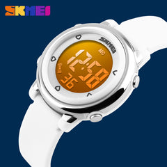 SKMEI Watch Change LED Light Date Alarm Round Dial Digital Wrist Watch Children Watches