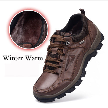 Genuine Leather Shoes Handmade Winter Shoes Men Outdoor Casual Men Ankle Boots
