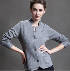 Cashmere Cardigan Sweater Pure Winter Brand Cardigan Cashmere Sweater
