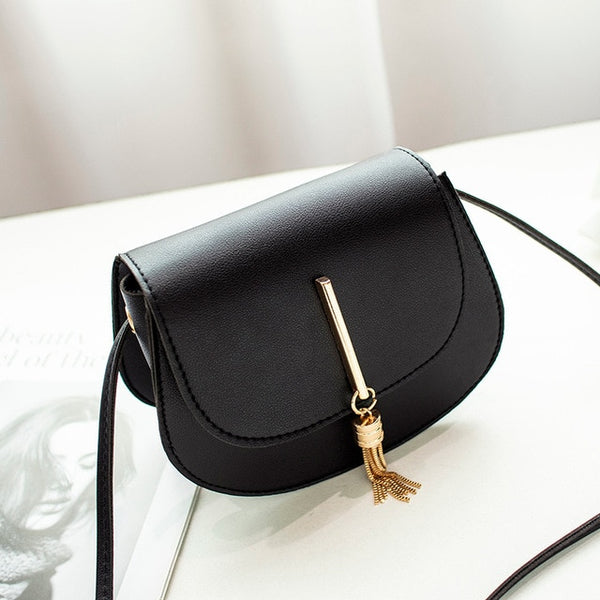 Women Bag Shoulder Crossbody Cute Chain Black Handbag Leather Bags