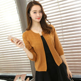 OHCLOTHING Spring Summer Tops V-neck Cape 3/4 Sleeve Cardigan Women Sweater Slim Jacket Coat
