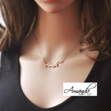 Personalized Name Necklace Signature Necklace Rose Gold Color Necklace Custom Name Jewelry