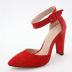 Women Shoes Party Wedding Super Square High Heel Pointed Toe Red Pumps Shoes