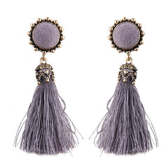 Bohemian Long Tassel Earrings Women Handmade Ethnic Fringe Drop Earrings Vintage Party Jewelry
