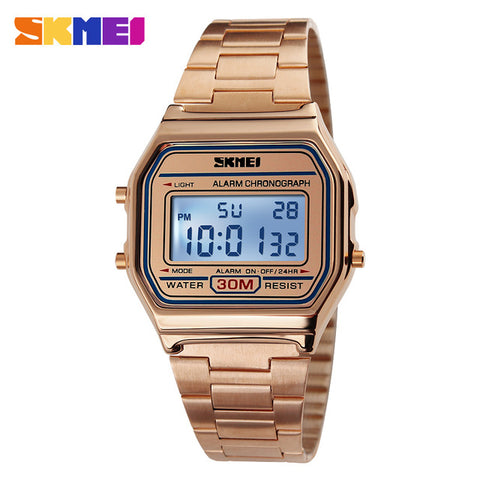 SKMEI Men LED Digital Watch Sports Watches Men's Stainless Steel Military Waterproof Wristwatches