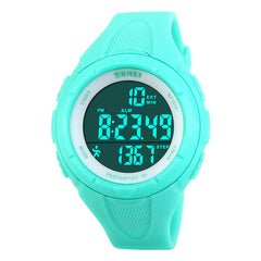 Women Digital Wristwatches LED Health Sports Watches Waterproof Gift Alarm Chrono Calendar Watch