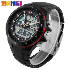 Sports Watches Men Casual Digital Quartz Wristwatches Alarm Waterproof Military Chrono