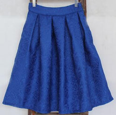 Saiqigui Summer Vintage Skirt High Waist Work Wear Midi Skirts Women American Apparel