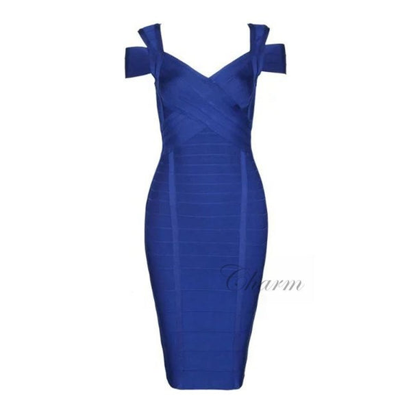 Seamyla Summer Dress V Neck Evening Party Dresses Sleeveless Women Bodycon Bandage Dresses