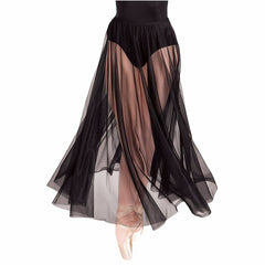 Sheer Boho Black Women Tulle Skirt Women Clothing Beach Maxi Skirts Summer Long Skirt