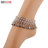 Summer Beach Anklets Silver Plated Tassel Ankle Bracelets Barefoot Sandals Foot Chain Jewelry