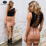 Sleeveless Backless Tie Back Snap Buttons Lace Up Bodysuits Summer Cotton Playsuits Jumpsuits Rompers