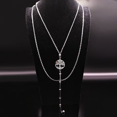 Stainless Steel Pendant Neckless Women Jewelry Silver Color Jewlery