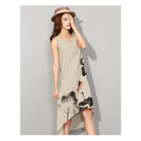 Summer Casual Women Dresses Vintage Dress Ladies Plus Size Clothing