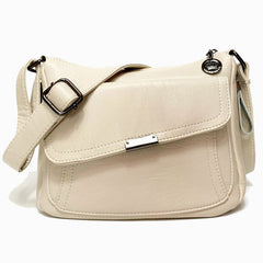 Summer Soft Leather Handbags Women Bag Designer Multi-pocket Crossbody Shoulder Bags