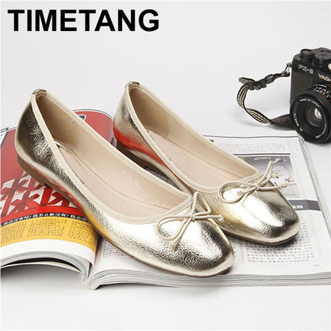 Spring Summer Casual Women Flat Pointed Toe Moccasins Ballet Loafers Bow Slip On Lazy Shoes Plus Size