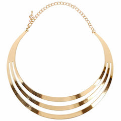 Necklaces Women Gorgeous Metal Multi Layer Statement Bib Collar Necklace Jewelry Accessories