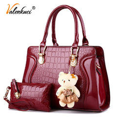 Valenkuci Designer Handbag Women Handbag Top-handle Vintage Tote Crossbody Bags