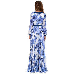 Vestidos BOHO Large Size Women Sexy Casual Deep V Long Evening Summer Beach Floral Party Dress