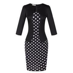 Vintage Summer Dress Zipper Office Pencil Sexy Bodycon Clothes Party Dresses