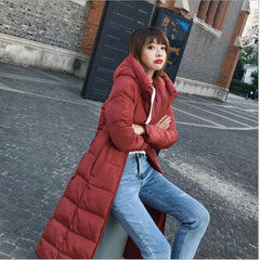 Winter Jacket Female Parka Coat  Fashion Down Jacket Long Hoodie