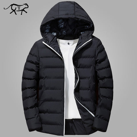 Warm Padded Hooded Collar Overcoat