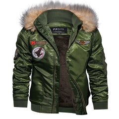 Winter Military Bomber Jacket Coat Men Air Force Jacket Warm Wool Liner Outerwear