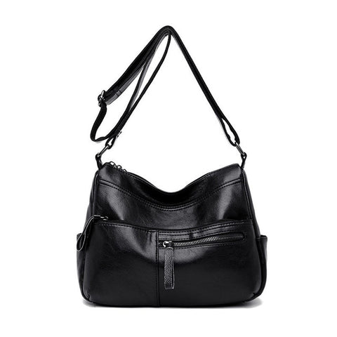 Winter Real Leather Zipper Luxury Handbags Women Bag Shoulder Crossbody Bags
